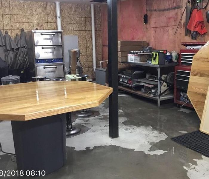 Restaurant Basement Flood Before
