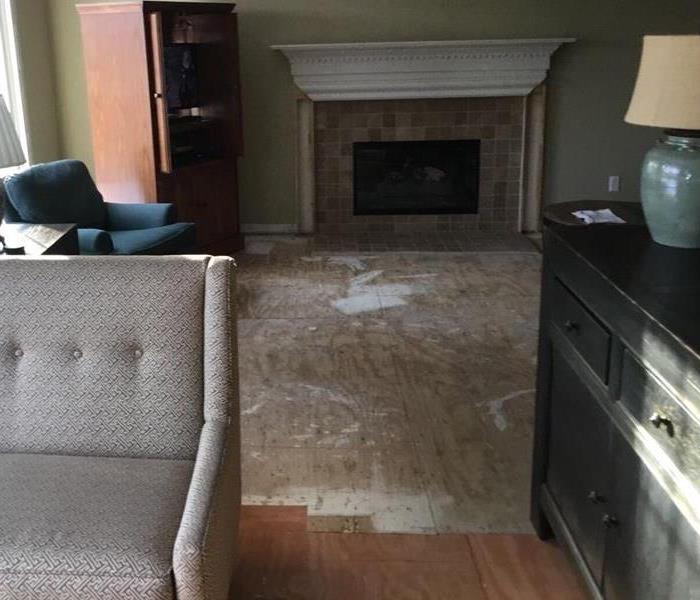 Flooring replaced in customers home after major water damage